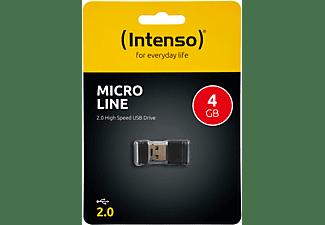 INTENSO Micro Line USB-Stick (Schwarz, 4 GB)