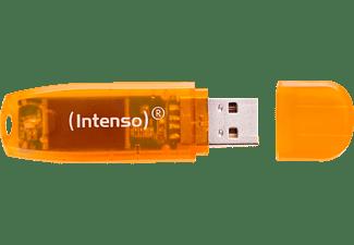 INTENSO Rainbow Line USB-Stick, 64 GB, 28 MB/s, Orange