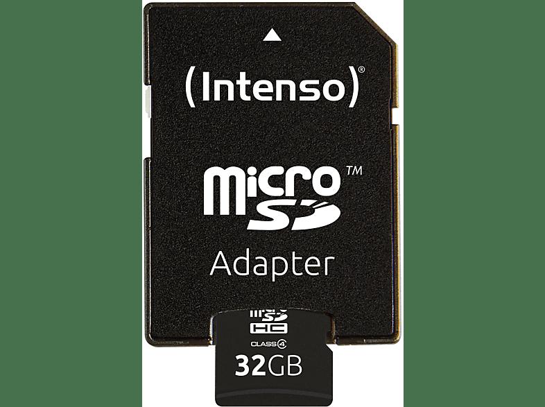 INTENSO 3403480, Micro-SDHC Speicherkarte, 32 GB, 21 MB s