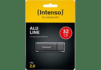 INTENSO Alu Line USB-Stick, 32 GB, 28 MB/s, Anthrazit