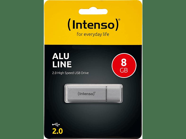 INTENSO Alu Line USB-Stick, Silber, 8 GB