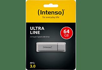 INTENSO Ultra Line USB-Stick, 64 GB, 35 MB/s, Silber