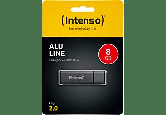 INTENSO Alu Line USB-Stick, 8 GB, 28 MB/s, Anthrazit