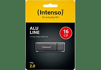 INTENSO Alu Line USB-Stick, 16 GB, 28 MB/s, Anthrazit