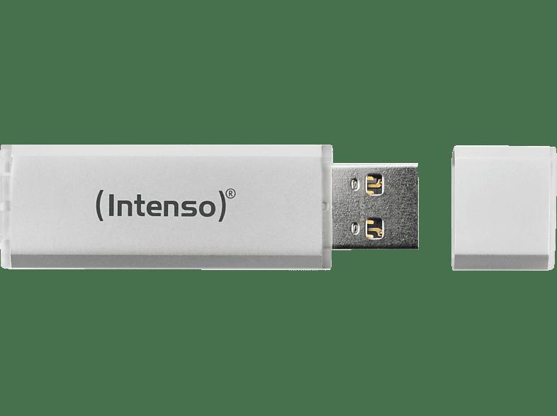 INTENSO Alu Line USB-Stick, 16 GB, 28 MB s, Silber