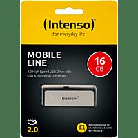 INTENSO Mobile Line USB-Stick, Silber, 16 GB