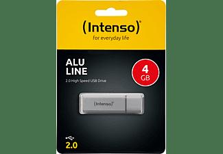 INTENSO Alu Line USB-Stick, 4 GB, 28 MB/s, Silber