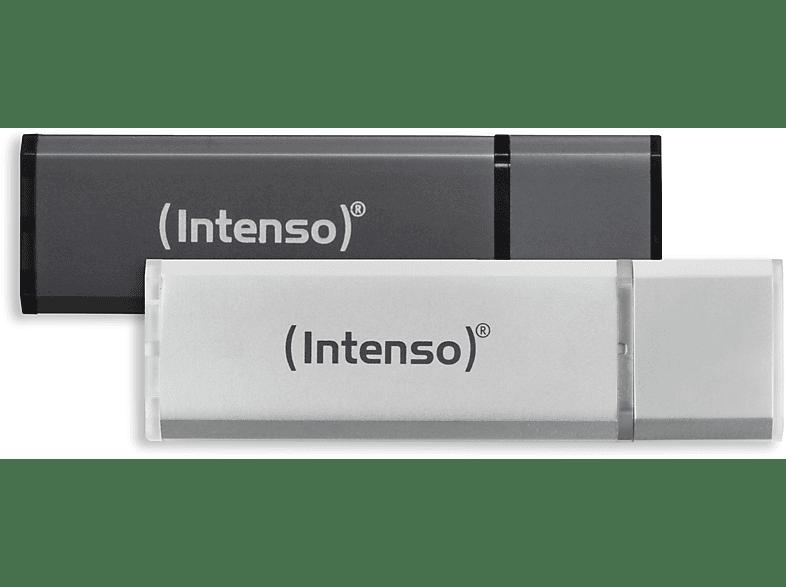 INTENSO Alu Line 2x  USB-Stick, Silber/Anthrazit
