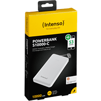 INTENSO Slim Typ-C Powerbank 10000 mAh Weiß