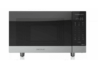 Microondas - Cecotec ProClean 6010, 700W, 8 programas, 23L, Espejo Negro