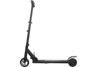 CITY BLITZ CB049C SLIMLINE E-Scooter (6,5 Zoll, Schwarz)