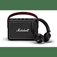MARSHALL Killburn II + Major III Bluetooth On-Ear Kopfhörer Set Bluetooth-Lautsprecher, Schwarz/Schwarz, Wasserfest