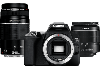 CANON Appareil photo reflex EOS 250D + 18-55mm + 75-300mm (3454C016AA)