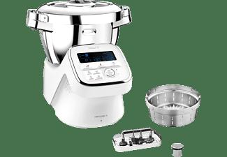 KRUPS HP60A1 i-Prep&Cook XL Küchenmaschine mit Kochfunktion Weiß/Edelstahl (Rührschüsselkapazität: 3 Liter, 1550 Watt)