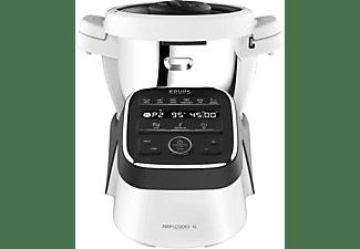 KRUPS HP50A8 Prep&Cook XL Küchenmaschine mit Kochfunktion Weiß/Anthrazit (Rührschüsselkapazität: 3 Liter, 1550 Watt)