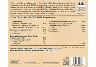 Tamara Smolyar - Klaviermusik  - (CD)