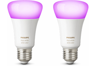 PHILIPS HUE Bluetooth Ledlamp wit en gekleurd licht 2-pack E27 (67328400)