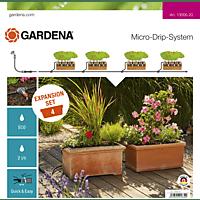 GARDENA 13006-20 Erweiterungsset Pflanztröge Micro-Drip-System Tropfbewässerung