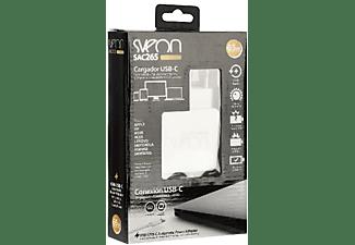 Cargador - Sveon SAC265, USB tipo C para portátiles y ultrabooks de 65W, Blanco