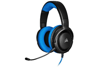 Auriculares gaming - Corsair HS35, PS4, 113 dB, Micrófono, Azul