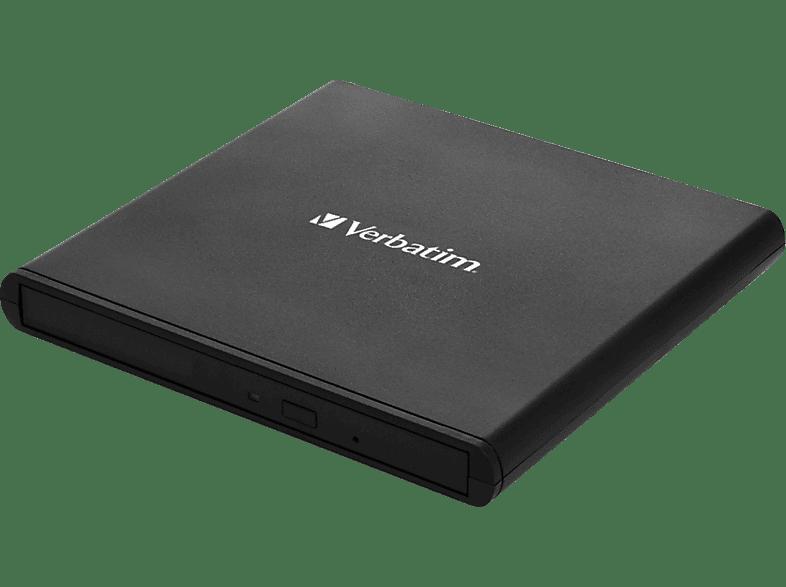 VERBATIM USB 2.0 CD-DVD Writer light black extern Slimline CD/DVD Brenner