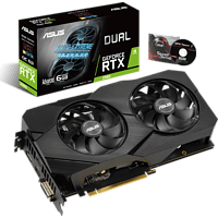 ASUS GeForce RTX™ 2060 Dual Advanced Evo 6GB (90YV0CH3-M0NA00) (NVIDIA, Grafikkarte)