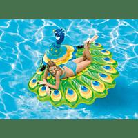 BAUER INTERNATIONAL Badeinsel Peacock, 193x163x94cm Luftmatratze, Mehrfarbig