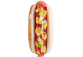 BAUER INTERNATIONAL Float Hotdog, ca. 180x89 cm Luftmatratze Mehrfarbig