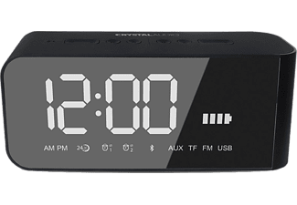CRYSTAL AUDIO BTV2K BT Speaker Alarm Clock Μαύρο