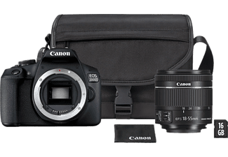CANON Appareil photo reflex EOS 2000D + EF-S 18-55mm + SB130 Sac + Carte SD 16 GB (2728C054AA)