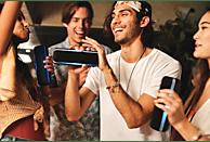 SONY SRS-XB22 Wireless Party Chain Bluetooth Lautsprecher, Schwarz, Wasserfest