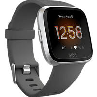 FITBIT Versa Lite Smartwatch Aluminium Kunststoff, S,L, Dunkelgrau/Aluminium