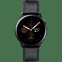 SAMSUNG  Galaxy Watch Active2 Stainless Steel 40mm BK Smartwatch Edelstahl, Echtleder, S/M, Black