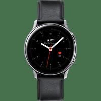 SAMSUNG  Galaxy Watch Active2 Stainless Steel 40mm SI Smartwatch Edelstahl, Echtleder, S/M, Silver