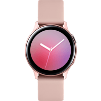 SAMSUNG Galaxy Watch Active2 Aluminium 40mm PG Smartwatch Aluminium Fluorkautschuk, S/M, Pink Gold