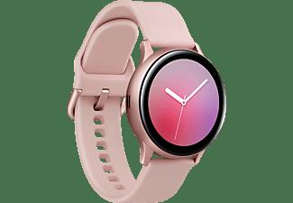 SAMSUNG Galaxy Watch Active2 Aluminium 40mm PG Smartwatch Aluminium Fluorkautschuk, S/M, Pink Gold