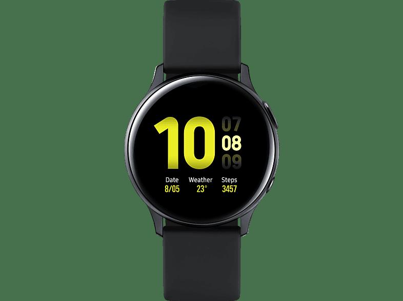 SAMSUNG  Galaxy Watch Active2 Aluminium 40mm AB Smartwatch Aluminium, Fluorkautschuk, S/M, Aqua Black