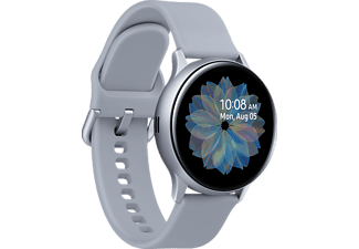 SAMSUNG Galaxy Watch Active2 Aluminium 40mm CS Smartwatch Aluminium Fluorkautschuk, S/M, Cloud Silver