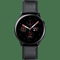 SAMSUNG  Galaxy Watch Active2 Stainless Steel 40mm (LTE) BK Smartwatch Edelstahl, Echtleder, S/M, Black