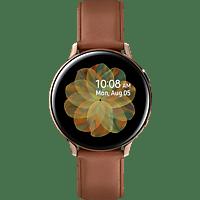 SAMSUNG  Galaxy Watch Active2 Stainless Steel 44mm GO Smartwatch Edelstahl, Echtleder, M/L, Gold