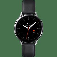 SAMSUNG  Galaxy Watch Active2 Stainless Steel 44mm SI Smartwatch Edelstahl, Echtleder, M/L, Silver