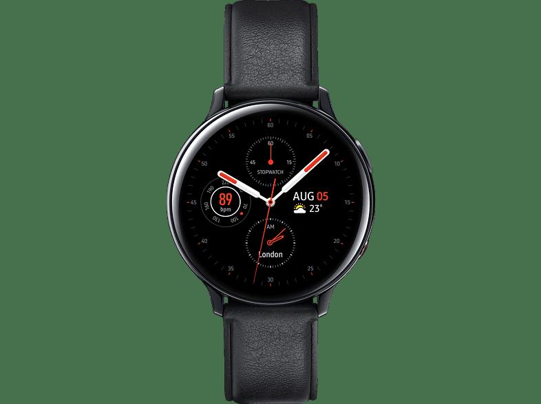 SAMSUNG  Galaxy Watch Active2 Stainless Steel 44mm (LTE) BK Smartwatch Edelstahl, Echtleder, M/L, Black