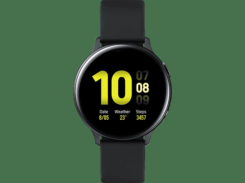 SAMSUNG Galaxy Watch Active2 Aluminium 44mm AB Smartwatch Fluorkautschuk, M L, Aqua Black