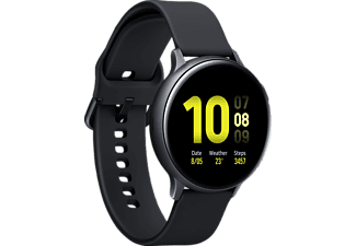 SAMSUNG Galaxy Watch Active2 Aluminium 44mm AB Smartwatch Aluminium Fluorkautschuk, M/L, Aqua Black