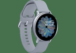 SAMSUNG Galaxy Watch Active2 Aluminium 44mm CS Smartwatch Aluminium Fluorkautschuk, M/L, Cloud Silver