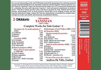 Andrea De Vitis - Sämtliche Werke für Gitarren solo,Vol.1  - (CD)
