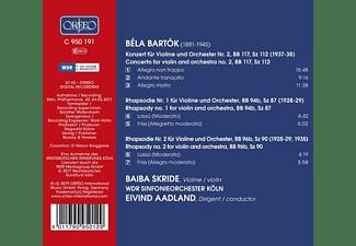 Baiba Skride, Eivind Aadland, Wdr Sinfonieorchester Köln - Violinkonzert 2/Rhapsodien für Violine  - (CD)