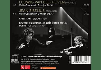 Christian Tetzlaff, Robin Ticciati, Deutsches Symphonie-Orchester Berlin - Beethoven & Sibelius: Violinkonzerte  - (CD)