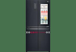 LG GMQ 844 MCKV  French Door (F, 1787 mm hoch, Mattschwarz Edelstahllook)