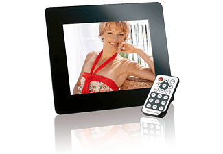 INTENSO Media Director Digitaler Bilderrahmen, 20,32 cm, 1.024 x 768 Pixel, Schwarz